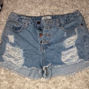 Forever 21 Jean ripped high waisted shorts